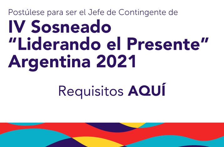 Jefe de Contingente IV SOSNEADO Liberando el Presente Argentina 2020