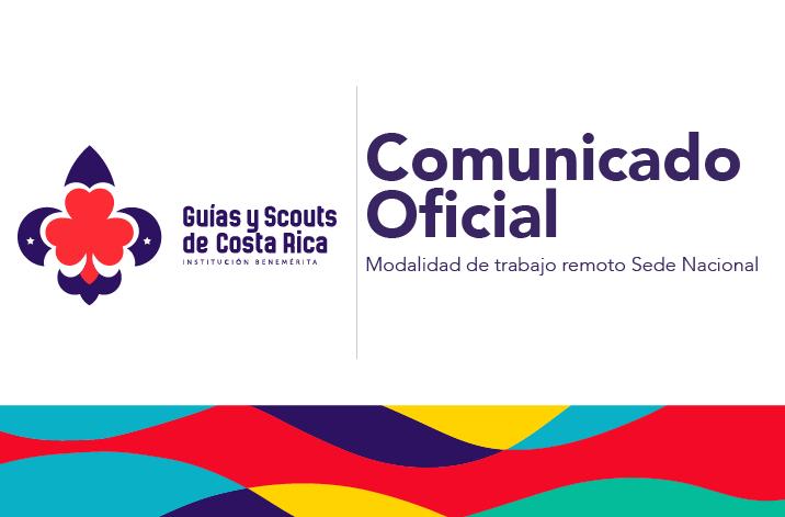 Comunicado Oficial Inicio de Modalidad de Teletrabajo para el personal de la Sede Nacional