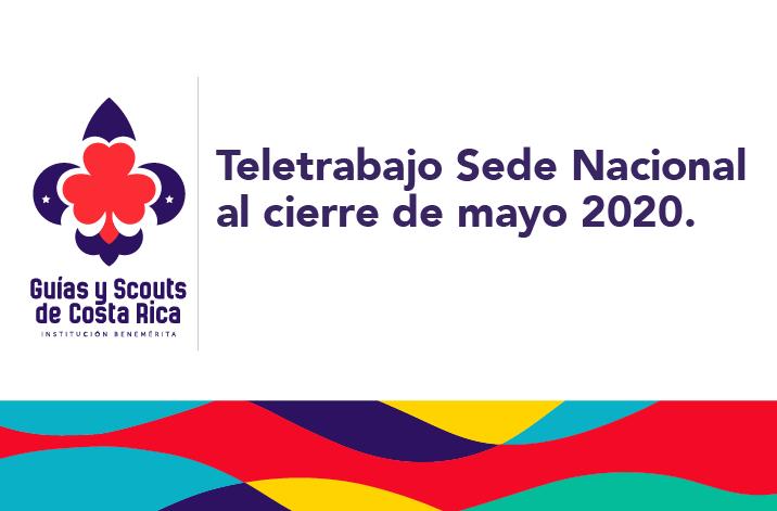 Comunicado oficial Teletrabajo Sede Nacional al cierre de mayo 2020.