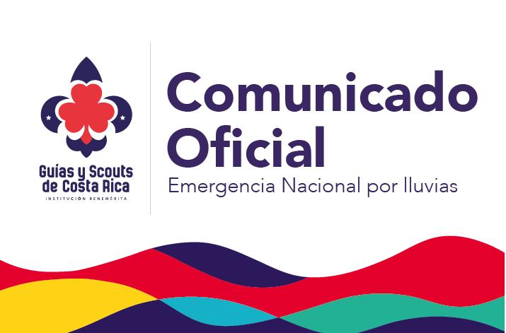 Comunicado oficial Emergencia Nacional por lluvias