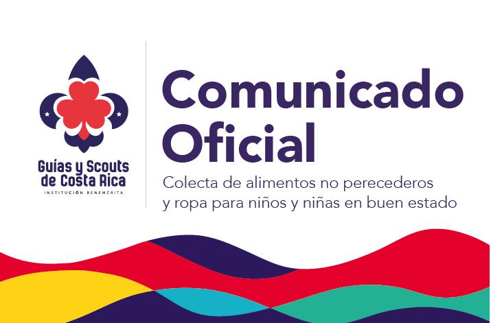 Comunicado Oficial Colecta de solidaria Guías y Scouts